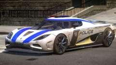 Koenigsegg Agera Police V1.3 для GTA 4