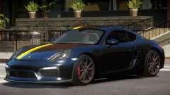 Porsche Cayman GT4 Black Edition для GTA 4