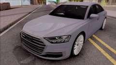 Audi A8 2018 Grey для GTA San Andreas