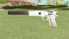 Silenced Pistol (White) для GTA San Andreas