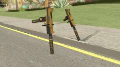 Micro SMG (Luxury Finish) GTA V Suppressor V2 для GTA San Andreas