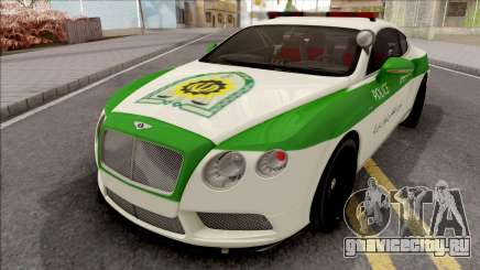 Bentley Continental GT Iranian Police для GTA San Andreas