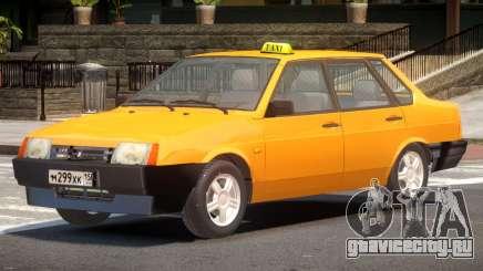 VAZ 21099 Taxi V1.0 для GTA 4