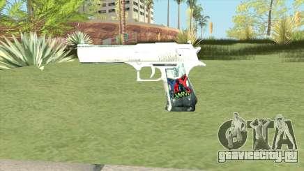 Desert Eagle (White) для GTA San Andreas