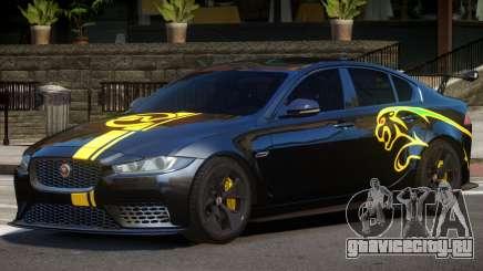 Jaguar XE Sport PJ2 для GTA 4