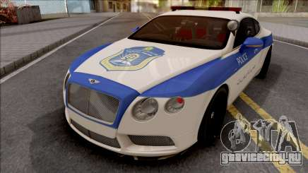 Bentley Continental GT Iranian Police v2 для GTA San Andreas