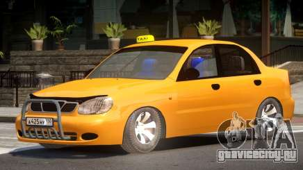 Daewoo Lanos Taxi V1.0 для GTA 4