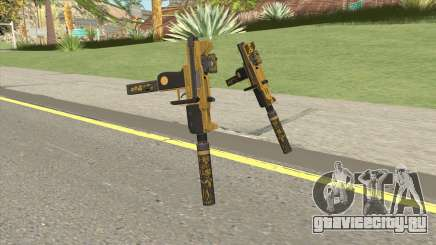 Micro SMG (Luxury Finish) GTA V Two Upgrades V4 для GTA San Andreas
