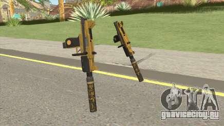 Micro SMG (Luxury Finish) GTA V Suppressor V1 для GTA San Andreas