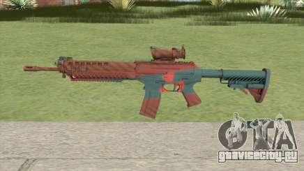 SG-553 Nukestripe Maroon (CS:GO) для GTA San Andreas