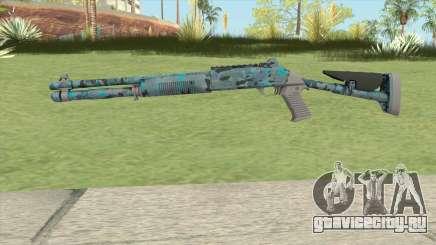 XM1014 Varicamo Blue (CS:GO) для GTA San Andreas