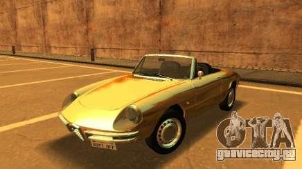 Альфа Спайдера Romeo Duetto Диапазоне 160 1966 для GTA San Andreas