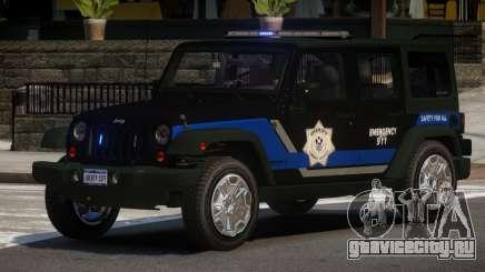 Jeep Wrangler Police V1.0 для GTA 4