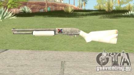 Pump Shotgun (White) для GTA San Andreas