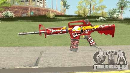 M4A1 (Flaming Skull) для GTA San Andreas