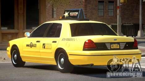 Ford Crown Victoria Taxi V1.2 для GTA 4