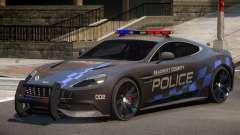 Aston Martin Vanquish Police V1.0 для GTA 4