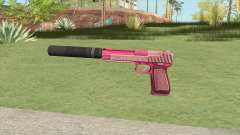 Pistol .50 GTA V (Pink) Suppressor V1 для GTA San Andreas