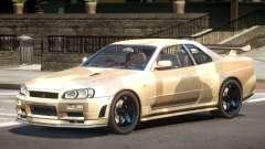 Nissan R34 GTR PJ1 для GTA 4