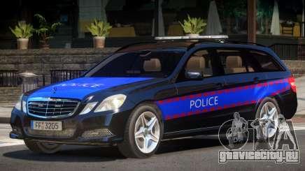 Mercedes E350 Police V1.0 для GTA 4