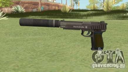 Pistol .50 GTA V (Green) Suppressor V1 для GTA San Andreas