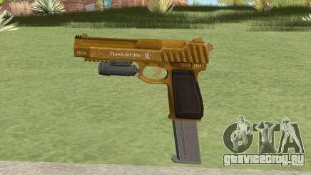 Pistol .50 GTA V (Gold) Flashlight V2 для GTA San Andreas