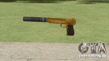 Pistol .50 GTA V (Gold) Suppressor V1 для GTA San Andreas