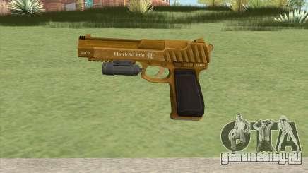 Pistol .50 GTA V (Gold) Flashlight V1 для GTA San Andreas