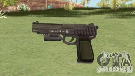 Pistol .50 GTA V (Green) Flashlight V1 для GTA San Andreas