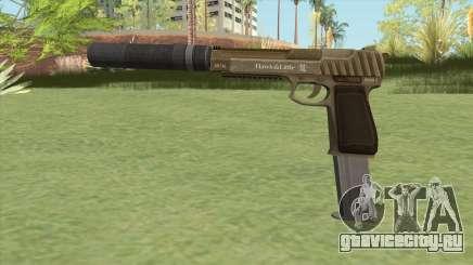 Pistol .50 GTA V (Army) Suppressor V2 для GTA San Andreas