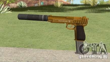 Pistol .50 GTA V (Gold) Suppressor V2 для GTA San Andreas