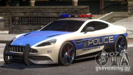 Aston Martin Vanquish Police V1.1 для GTA 4