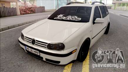 Volkswagen Golf 4 White для GTA San Andreas