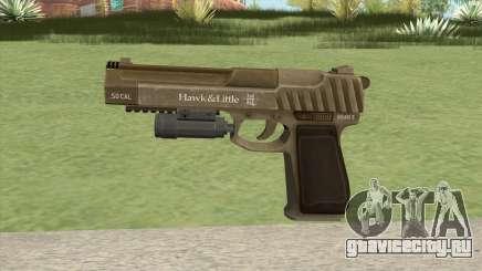 Pistol .50 GTA V (Army) Flashlight V1 для GTA San Andreas