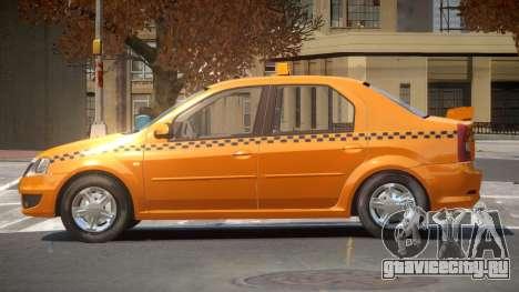 Dacia Logan Taxi V1.0 для GTA 4