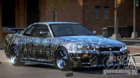 Nissan Skyline R34 LT PJ5 для GTA 4