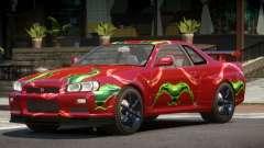 Nissan Skyline R34 GT-R V1.1 PJ4 для GTA 4