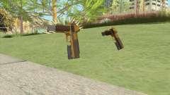 Heavy Pistol GTA V (Gold) Flashlight V2 для GTA San Andreas