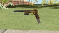 Heavy Pistol GTA V (Gold) Full Attachments для GTA San Andreas