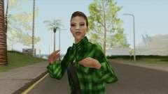 Gang Girl V2 (Grove Street) для GTA San Andreas