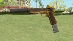 Heavy Pistol GTA V (Gold) Suppressor V2 для GTA San Andreas