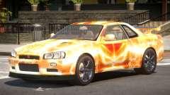Nissan Skyline R34 GT-R V1.1 PJ5 для GTA 4