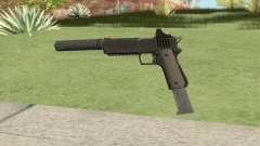 Heavy Pistol GTA V (NG Black) Suppressor V2 для GTA San Andreas