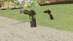 Heavy Pistol GTA V (Green) Flashlight V2 для GTA San Andreas