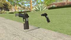 Heavy Pistol GTA V (OG Black) Flashlight V2 для GTA San Andreas