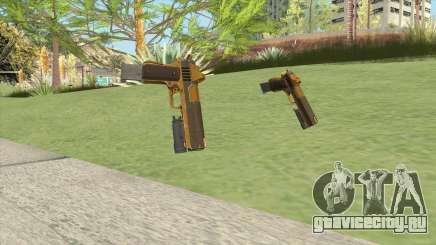 Heavy Pistol GTA V (Gold) Flashlight V2 для GTA San Andreas
