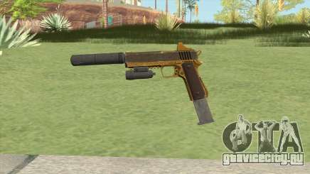 Heavy Pistol GTA V (Gold) Full Attachments для GTA San Andreas