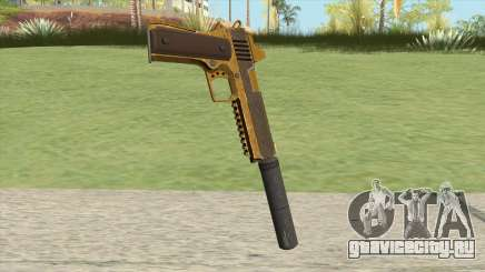 Heavy Pistol GTA V (Gold) Suppressor V1 для GTA San Andreas