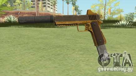 Heavy Pistol GTA V (Gold) Suppressor V2 для GTA San Andreas