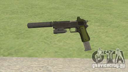 Heavy Pistol GTA V (Green) Full Attachments для GTA San Andreas